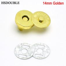Кнопка магнитная - для хлястиков на планеры, блокноты и альбомы - золото