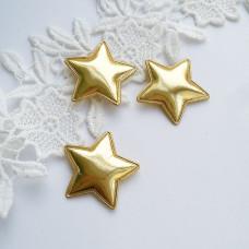 Золотая звезда из кожзама