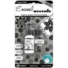 Эмалевые акценты Ranger Enamel Accents .5oz 2/Pkg Black & White