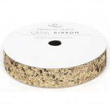 """Лента """"Solid Large Glitter Ribbon-Gold"""" от American Crafts"""