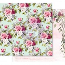 Лист бумаги с фольгированием Misty Rose Foiled от Prima Marketing