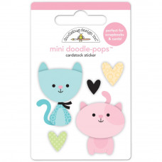 Наклейки 3D Bitty Kitties Doodlebug