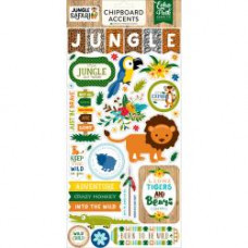 "Набор чипборда Jungle Safari Chipboard Accents 6""X13"" от Echo Park Paper"