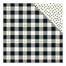 "Лист бумаги Plaid Please, Please Foiled Double-Sided Cardstock 12""X12"" от My Minds Eye"