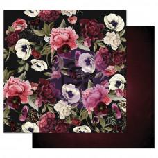 Лист бумаги с фольгированием Midnight Garden Foiled от Prima Marketing