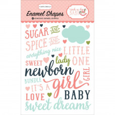 Эмалевые стикеры Rock-A-Bye Baby Girl Enamel Shapes от Carta Bella