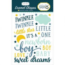 Эмалевые стикеры Rock-A-Bye Baby Boy Enamel Shapes от Carta Bella