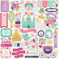 "Набор наклеек Once Upon A Time Princess Cardstock Stickers 12""X12"""