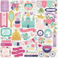 """Набор наклеек Once Upon A Time Princess Cardstock Stickers 12""""X12"""""""