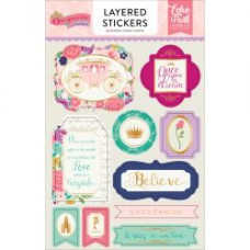 Набор объемных наклеек Once Upon A Time Princess Layered Stickers W/Gold Foil