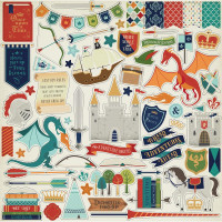 "Набор наклеек Once Upon A Time Prince Cardstock Stickers 12""X12"" от Echo Park"