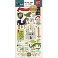 Чипборд с фольгированием - Chipboard Stickers with Foil Accents - Prince - Once Upon A Time - Echo Park