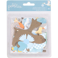 Набор высечек Lullaby Ephemera Cardstock Die-Cuts 40/Pkg, Baby Boy, Pebbles