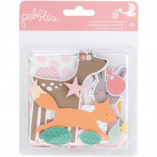 Набор высечек Lullaby Ephemera Cardstock Die-Cuts 40/Pkg, Baby Girl, Pebbles