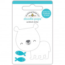 "3d стикер ""Doodle-Pops 3D Stickers At The Zoo Patrick Polar Bear"" от Doodlebug"