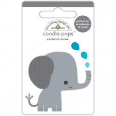 "3d стикер ""Doodle-Pops 3D Stickers At The Zoo Eddie Elephant от Doodlebug"