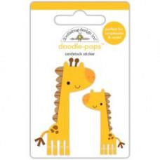Наклейки 3D At The Zoo Jenny & Jojo Giraffe Doodlebug