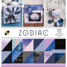 """Набор бумаги Zodiac Holographic 12""""X12"""" от"""