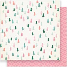 "Лист двусторонней бумаги Fa La La Evergreen Double-Sided Cardstock 12""X12"""