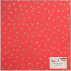 "Лист кардстока Red W/Gold Stars Fa La La Glittered Cardstock 12""X12"""