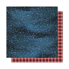 """Лист бумаги """"Night Sky"""" коллекции One Canoe Two Creekside"""