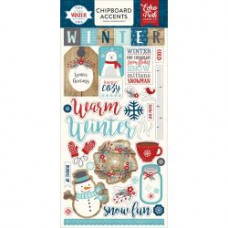 "Набор чипборда A Perfect Winter Chipboard Accents 6""X13"" от Echo Park Paper"