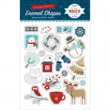 Набор эмалевых наклеек A Perfect Winter Adhesive Enamel Embellishments от Echo Park Paper