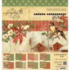 "Набор бумаги Winter Wonderland, 8""X8"" 24/Pkg Graphic 45"