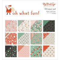 Набор двухсторонней бумаги - 6 x 6 Oh What Fun, 12 Designs/2 Each - My Minds Eye