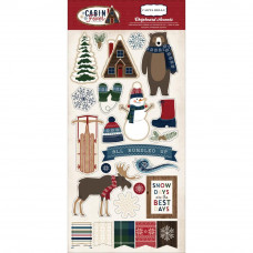 "Набор чипборда Cabin Fever Chipboard Accents 6""X13"" от Carta Bella"