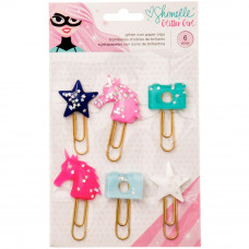 Набор декоративных скрепок Shimelle Glitter Girl Paper Clips  от American Crafts