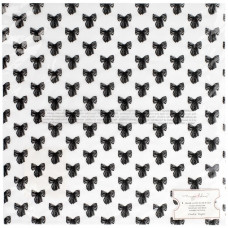 "Лист веллума Maggie Holmes Carousel Flocked Vellum 12""X12""Crate Paper"