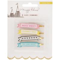 Набор декоративных зажимов Maggie Holmes Carousel Banner Clips 4/Pkg от Crate Paper