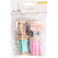 Набор декоративных лент Maggie Holmes Carousel Ribbon Spools 4/Pkg от Crate Paper