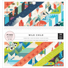 "Набор бумаги коллекции Wild Child - Boy Pink Paislee  6""X6"" 36/Pkg"