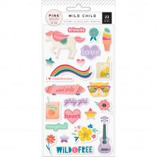 "Набор паф стикеров ""Wild Child Puffy Stickers Girl"" от Pink Paislee"