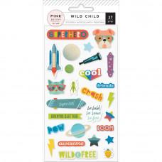 "Набор паф стикеров ""Wild Child Puffy Stickers Boy"" от Pink Paislee"