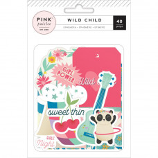 Набор высечек Wild Child Girl Ephemera Cardstock Die-Cuts 40/Pkg от Pink Paislee