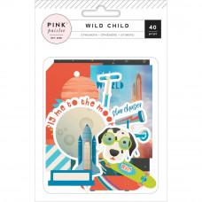 Набор высечек Wild Child  Boy Ephemera Cardstock Die-Cuts 40/Pkg от Pink Paislee