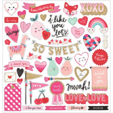"Набор чипборда Main Squeeze Chipboard Stickers 12""X12"" от  Crate Paper"