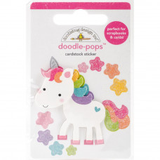 "3d стикер ""Doodle-Pops 3D Stickers-Fairy Tales Unicorn от Doodlebug"