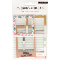 Набор рамок - Chipboard Frames with Glitter Accents - Snow and Cocoa - Crate Paper