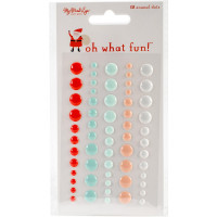 "Набор дотс коллекции ""Oh What Fun Adhesive Enamel Dots 60/Pkg"" от MME"