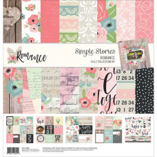 "Набор бумаги Romance от Simple Stories Collection Kit 12""X12"