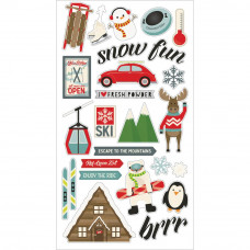 "Набор чипборда Sub Zero Chipboard Stickers 6""X12"" от Simple Stories"