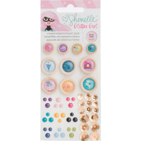 Набор декоративных элементов   Shimelle Glitter Girl Embellishment Pack  от American Crafts