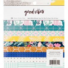 Набор односторонней бумаги - 6 x 6 Paper Pad - Good Vibes - Crate Paper