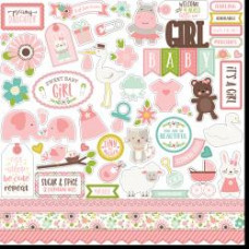 "Наклейки Sweet Baby Girl Cardstock Stickers 12""X12"" Echo Park"