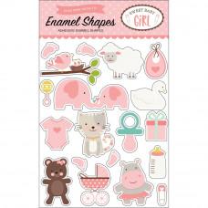 Набор эмалевых стикеров Sweet Baby Girl  Enamel Shapes