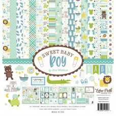 "Набор бумаги Sweet Baby Boy Echo Park Collection Kit 12""X12"""